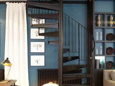 D co mur bleu canard on pinterest - Couleur bleu canard deco ...