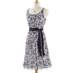 Black Floral Sash Dress - Women's Clothing, Jewelry, Fashion Accessories & Gifts for Women with a Flair of the Outdoors | NorthStyle
