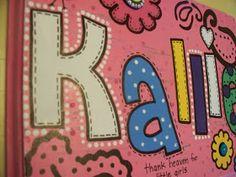 Paisley Pink Polka Dots: Baby Name Board