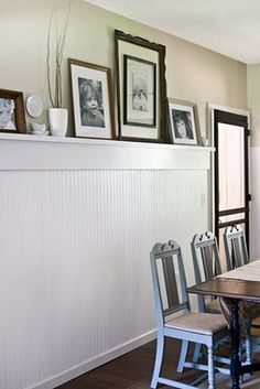 wainscoting shelf in the kitchen