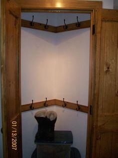 turned a corner into a closet