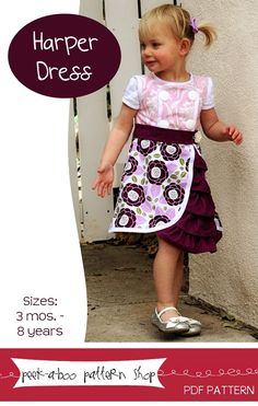 fairytale frocks and lollipops :: harper dress, girl dress, summer, spring, sewing, instant, e-pattern, downloadable, pdf, e-book, tutorial