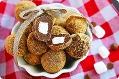 S'mores truffles... easy no-bake yumminess!