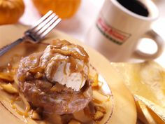 Imagine the taste sensation of topping our Pumpkin Spice doughnuts with ice cream and caramel. Yum!