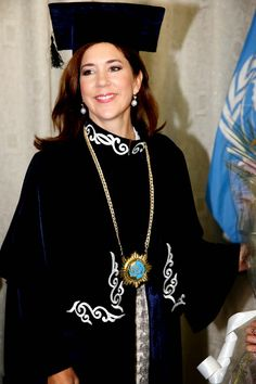Crown Princess Mary at the University of Tajikistans. 24 October 2014