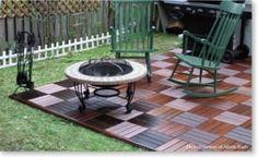 Snap together deck tiles