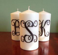 Monogrammed Candle via Etsy