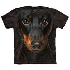 Daschund Face Tee Adult XXL now featured on Fab.