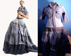 Recycle Denim dress