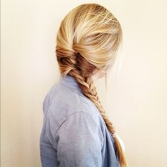 #pretty #beautiful #cute #gorgeous #trendy #hair #braid #side #fishtail #french #blonde #highlights #hairstyle #inspiration #idea #beauty