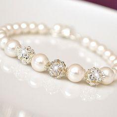 Bridal Bracelet Pearl Bridal Bracelet by somethingjeweled on Etsy, $46.00