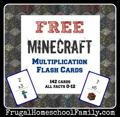 FREE Minecraft Multiplication Flash Cards