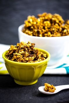 vegan: triple ginger molasses granola...