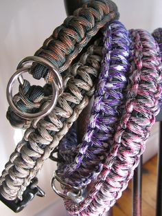 Cool Collars are hand crafted pet collars made out of pre-shrunk 550 military spec parachute cord, heavy duty molded plastic buckles or nickel plated steel choke rings. All materials are made in the USA.