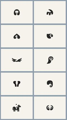 Negative space animals. Want the elephants as a small tattoo in white ink.