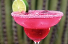 of course a pink Margarita to cool off