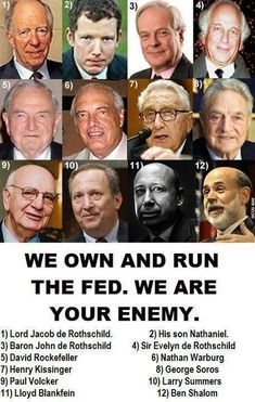 we own and run the FED enemies, conspiracy theories, conspiraci, wake, sons, truth, new world order, polit, illuminati