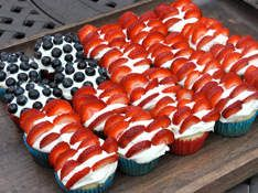 berri, flag, fourth of july, memorial day, patriotic desserts, 4th of july, cupcake cakes, treat, food cakes