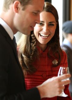 Kate Middleton Catherine, Duchess of Cambridge and Prince William, Duke of Cambridge taste whisky during a tour of The Famous Grouse Distillery on May 29, 2014 in Crieff, Scotland. The Duke and Duchess of Cambridge will spend the day in Scotland where they will tour a distillery and visit a village fete.