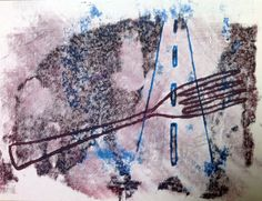 A Fork in The Road-Monoprint