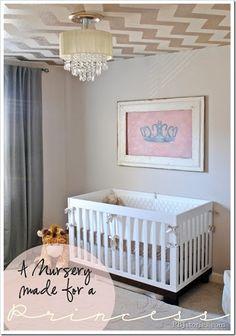 sarah richardson nursery - Chevron pattern on ceiling!