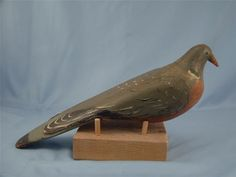 Vintage carved and painted dove