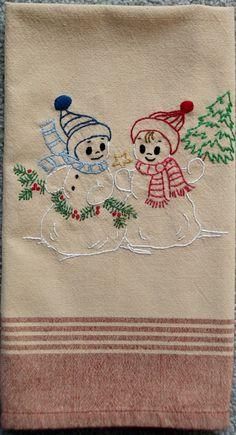 snowmen towel
