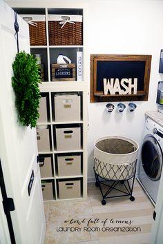 Laundry Room Organization via A Bowl Full of Lemons