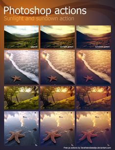Here's some photoshop actions