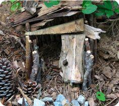 building a fairy house