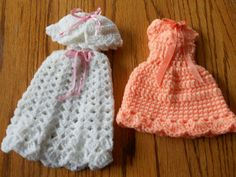 handmade crochet barbie doll clothes set by CanyonRiver on Etsy