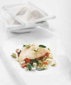 Halibut With Carrots and Leeks from realsimple.com #myplate #protein