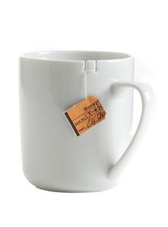 Mug with notches for your tea bag