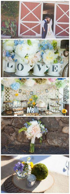 Rustic Barn Wedding With Great Ideas from Rusticweddingchic.com