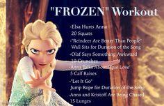 """""""FROZEN"""" movie workout. GET ME THAT DVD LETS GOOOOOOO!!!!!!"""