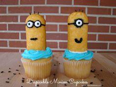 girl minion cake, minion twinki, twinki cupcak