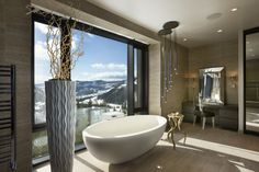 Big Sky Vacation Home by Len Cotsovolos and LC²Design