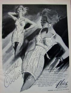 Coolaire FLEXEES bra girdle corset vintage lingerie ad