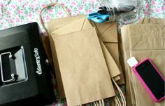Remember to bring lots of bags. This blog recommends using etsy to find bags in bulk for cheap :)