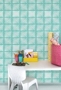Removable, temporary wallpaper is a great solution for renters looking to change up their space.