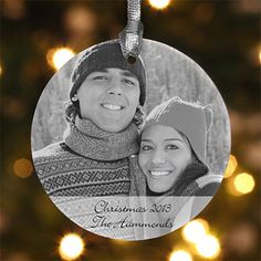 LOVE these - they're so beautiful! Personalized Photo Christmas Ornaments from PersonalizationMall ... they have TONS of gorgeous ornaments you can customize - you have to check them out!