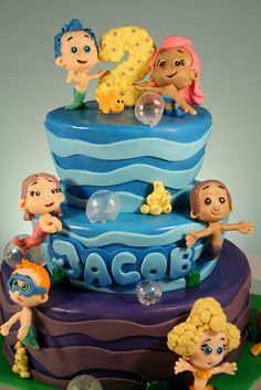 Bubble guppies cake... too cute!