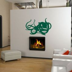 Deep Sea Octopus Vinyl Wall Art by Pillboxdesigns on Etsy, $29.99
