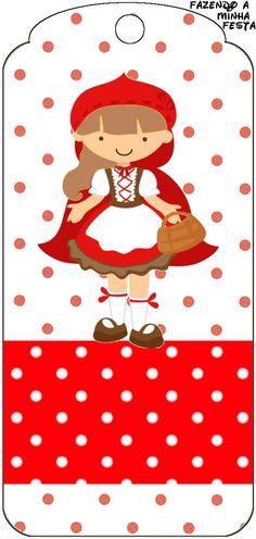 Faire My Party: Little Red Riding Hood - Kit Complet Avec Des cadres versent des invitations, des Étiquettes verser des bonbons, des souvenirs et des photos!
