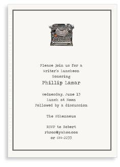 Lobird Invitation - Antique Typewriter