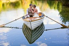 Love this rowboat engagement session at Historic Cedarwood in TN
