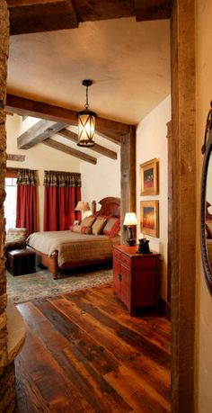 Rustic Bedroom by Lynne Barton Bier