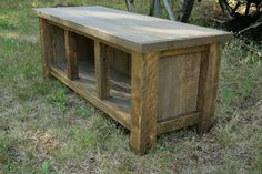 Reclaimed Rustic Three Cubby Entry Bench. $350.00, via Etsy.