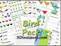 Free Preschool Printables: Bird Pack