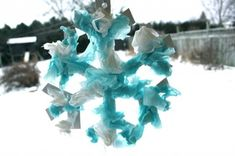 Tissue Paper Snowflake- cute and simple winter craft for kids!